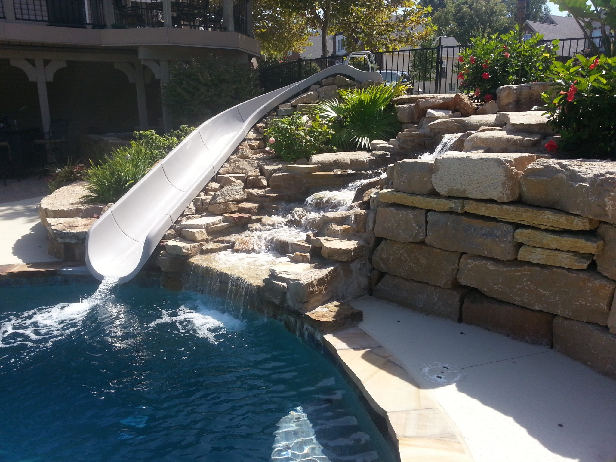 Reable Waterfall and Slide