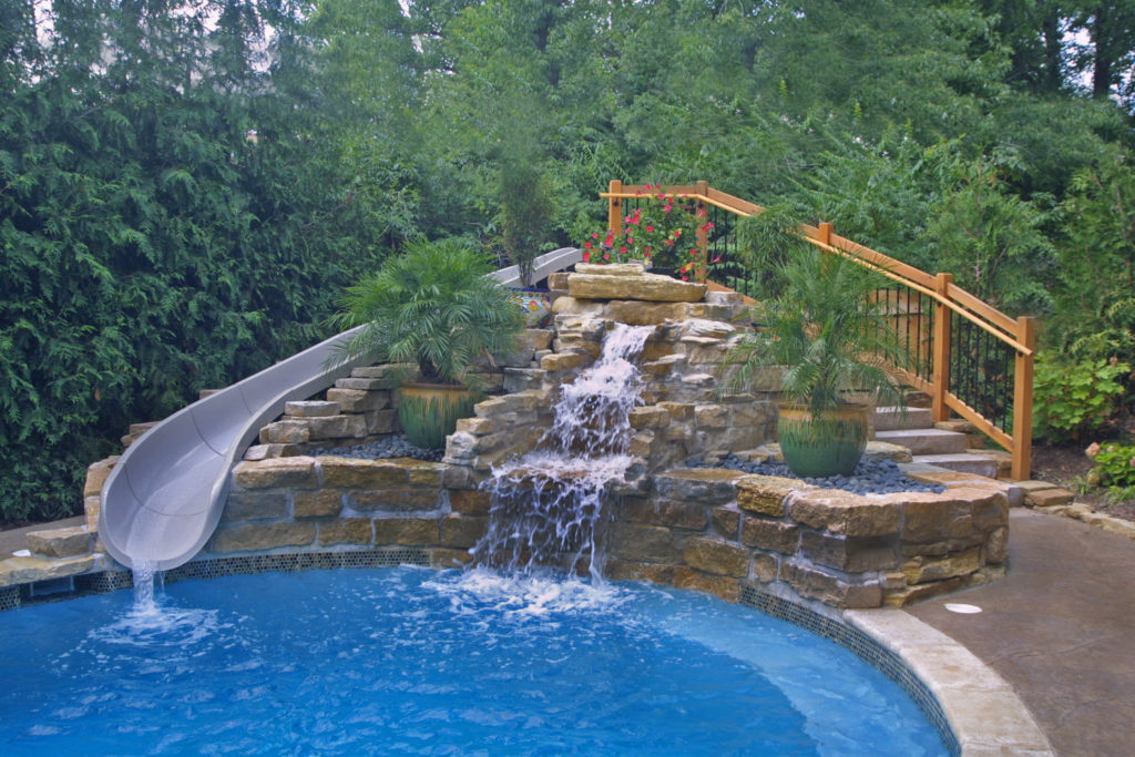 Lattinville Waterfall and slide
